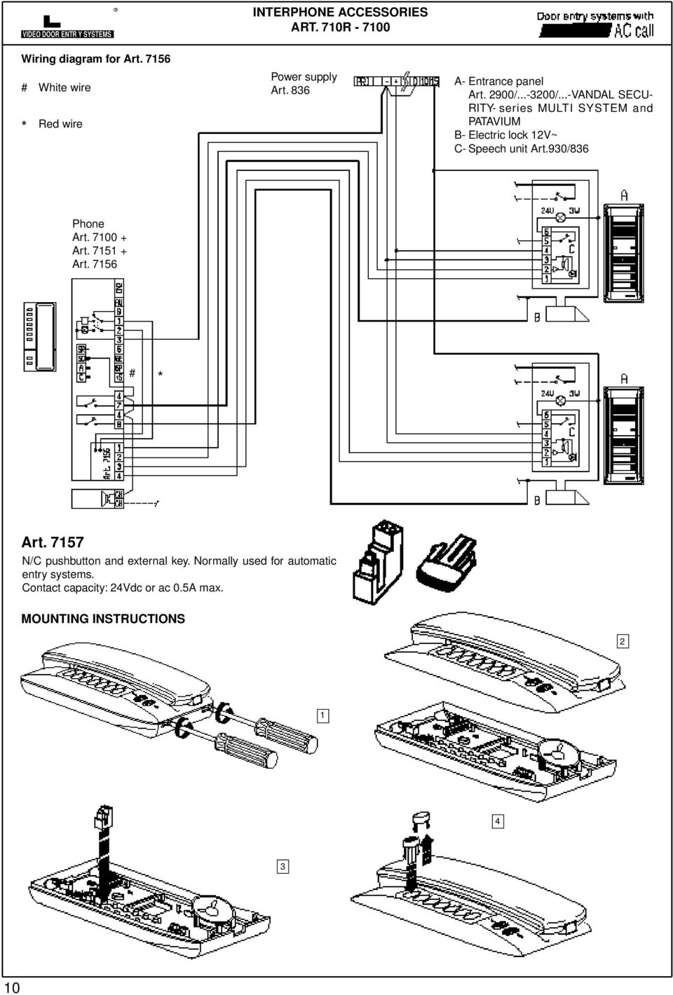 Schema Interphone Bpt Pdf