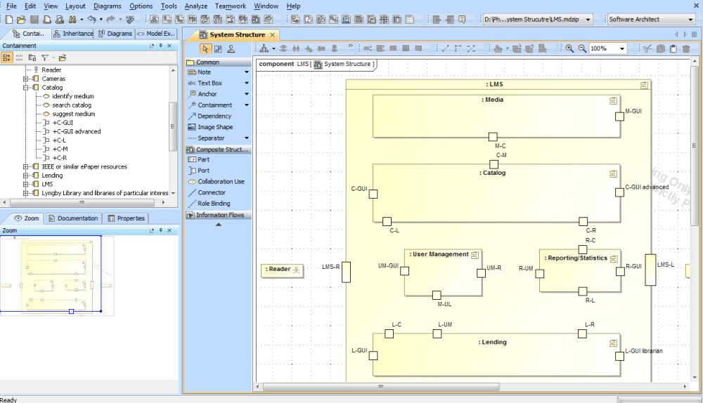 medium resolution of system structure diagram step 5 name ports the