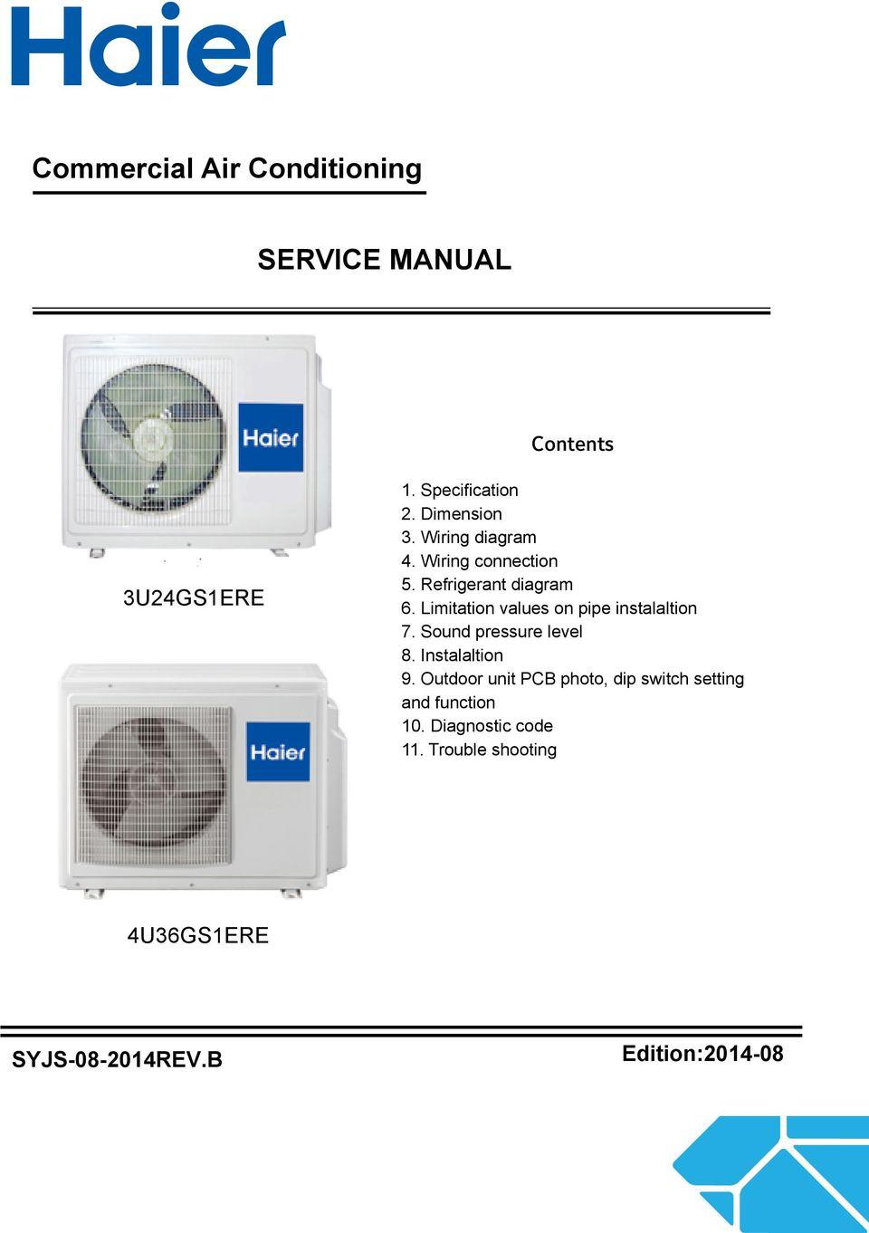 medium resolution of limitation values on pipe instalaltion 7 sound pressure level 8 instalaltion 9