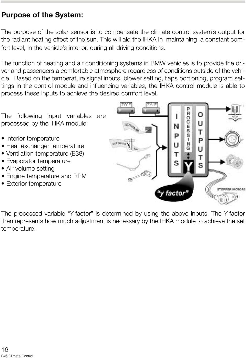 medium resolution of the function of heating and air conditioning systems in bmw vehicles is to provide the driver