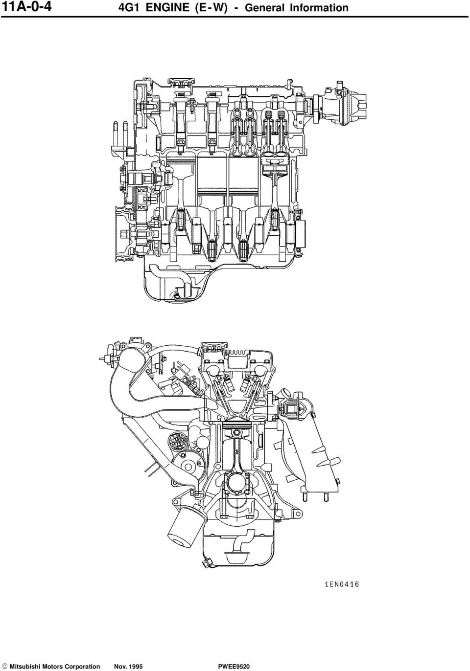 ENGINE 4G1 SERIES CONTENTS GENERAL INFORMATION