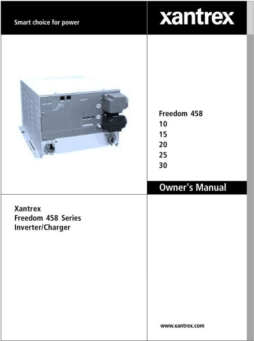 small resolution of xantrex freedom 458
