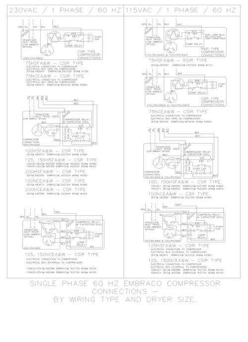 small resolution of wiring diagram single phase 60 hz embraco compressor