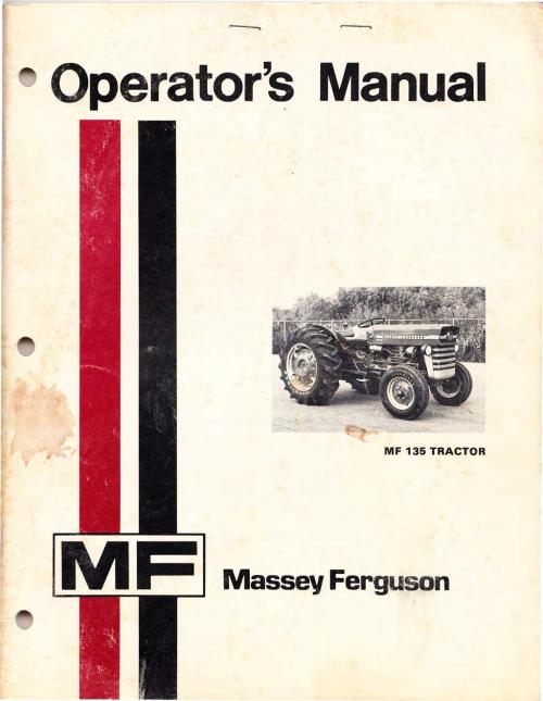small resolution of operator s manual mf 135