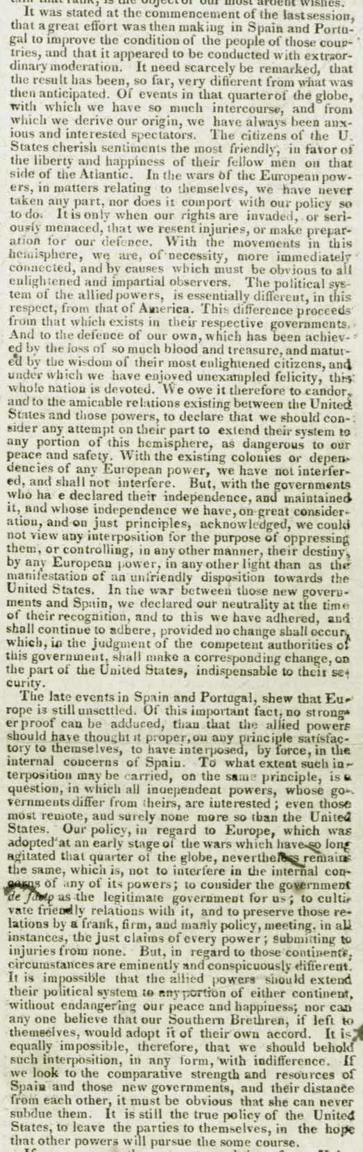 hight resolution of The Monroe Doctrine