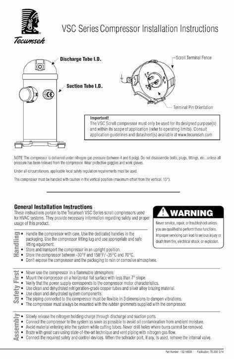 Tecumseh Compressor Wiring Diagram Tp - Cool Wiring Diagrams