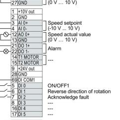 Cu240e 2 Wiring Diagram 2002 Dodge Neon Radio Converter With Control Units Cu230p Cu240b Sinamics Installing 3