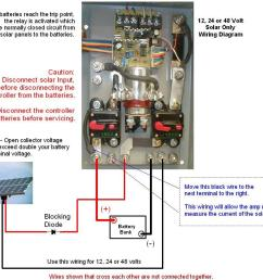 24 volt wire diagram solar panels use this wiring diagram for solar only installations  [ 1000 x 838 Pixel ]