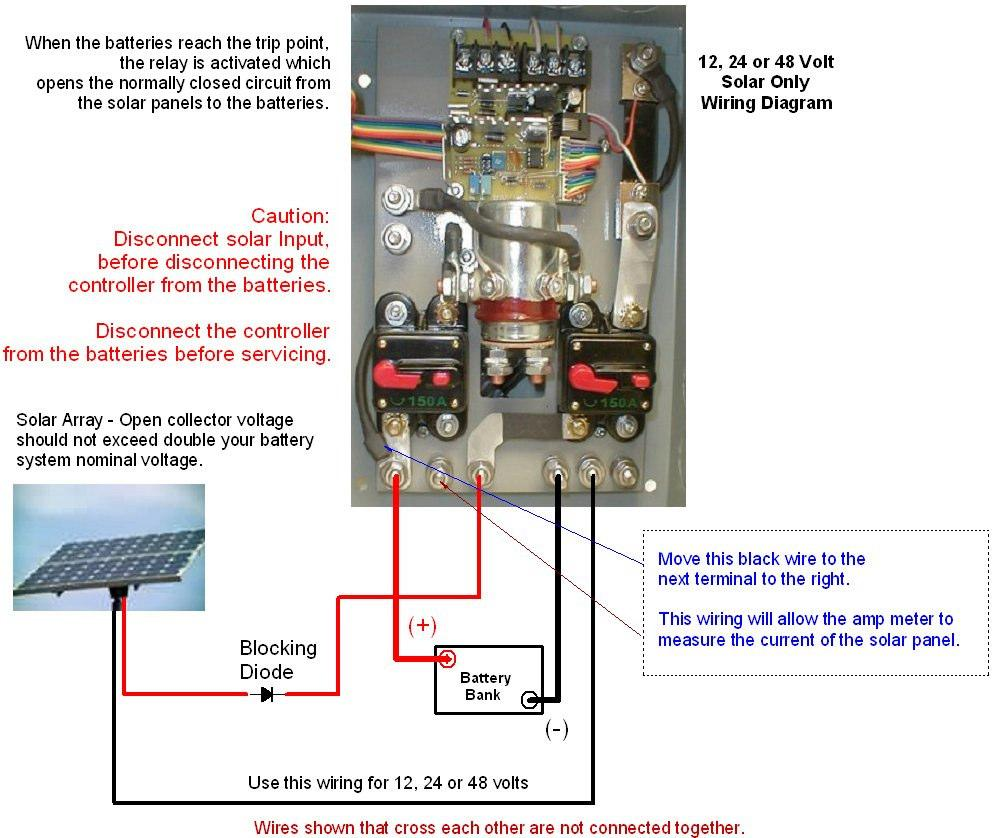 hight resolution of  24 volt wire diagram solar panels use this wiring diagram for solar only installations