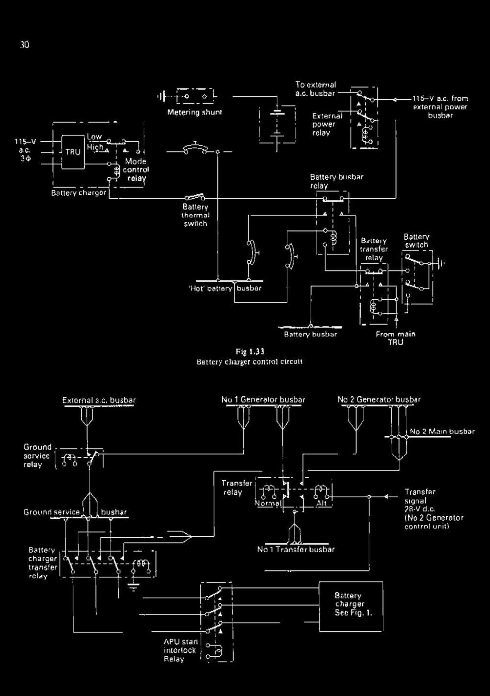 medium resolution of circuit battery busbar from main tru external a c busbar no 1 generator busbar