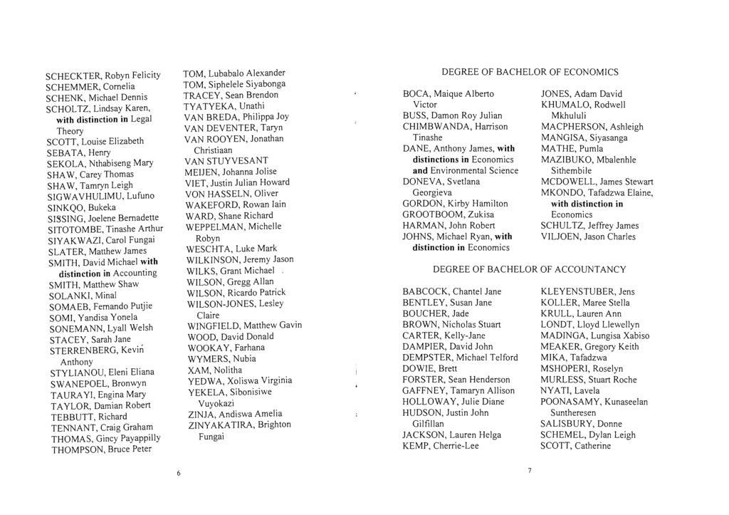 RHODES UNIVERSITY GRADUATION CEREMONY 1820 SETTLERS