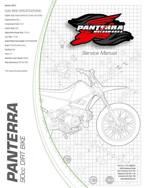 Panterra Dirt 90cc Bike