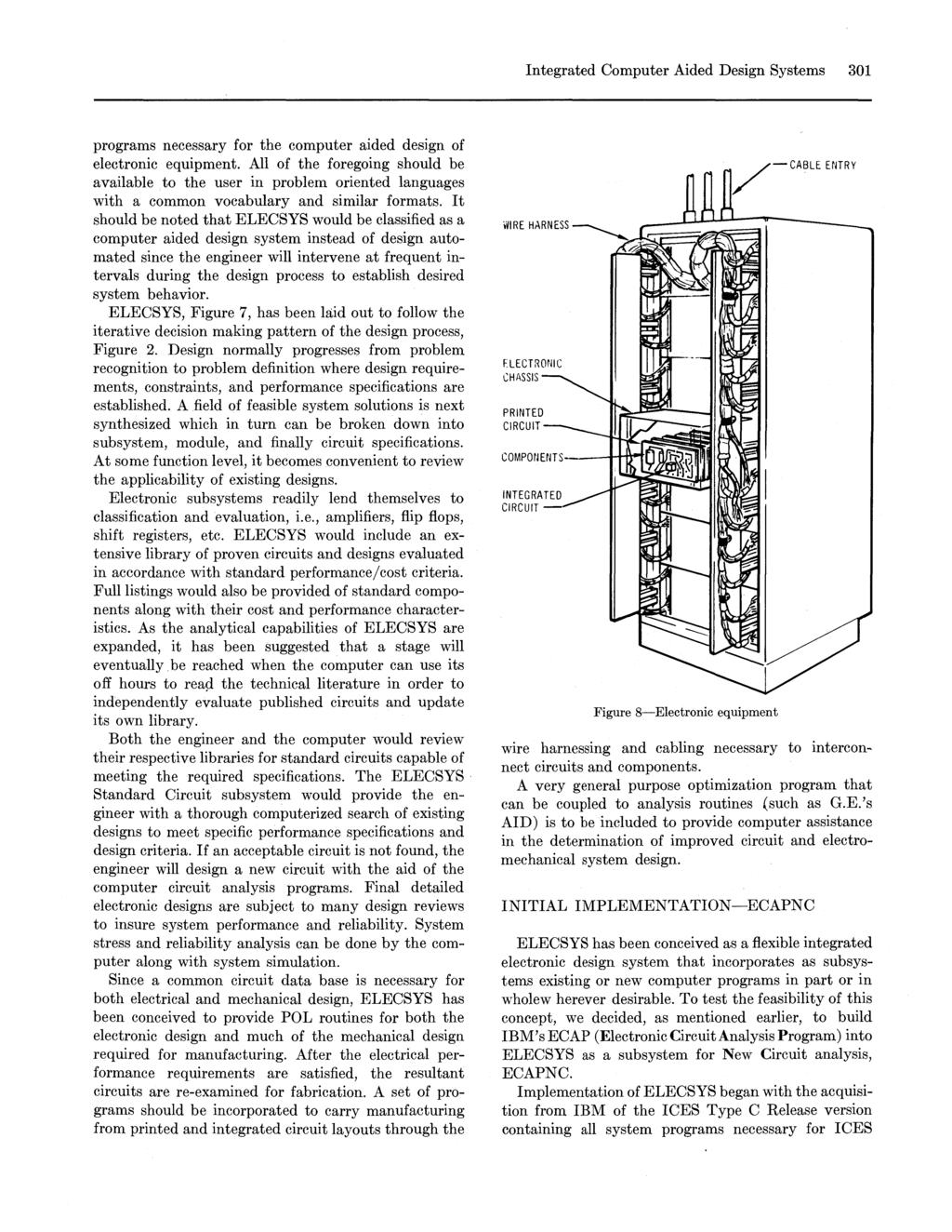 hight resolution of ntegrated computer aided design systems 301 programs necessary for the computer aided design of electronic equipment