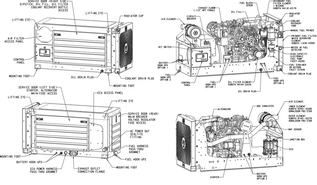 kubota fuel filter water separator