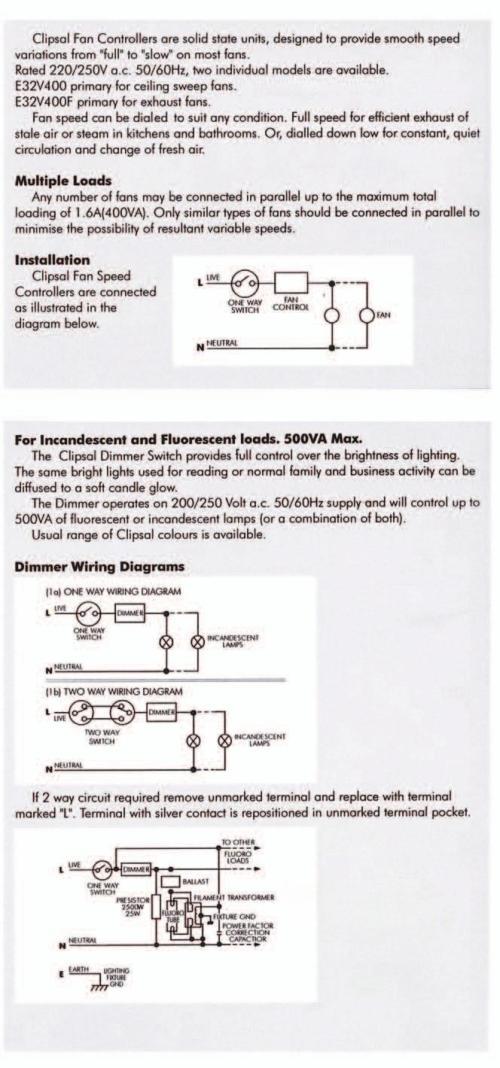 small resolution of light dimmer 500va 2way fan controller 400va