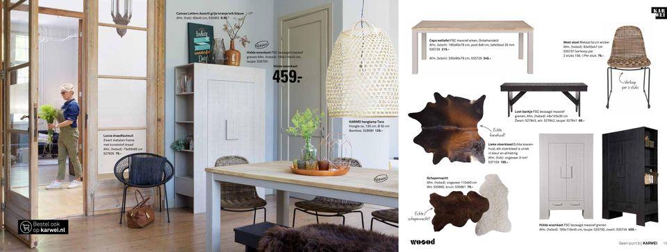 latest west stoel metaalbruin wicker afm hxbxd xx cm with