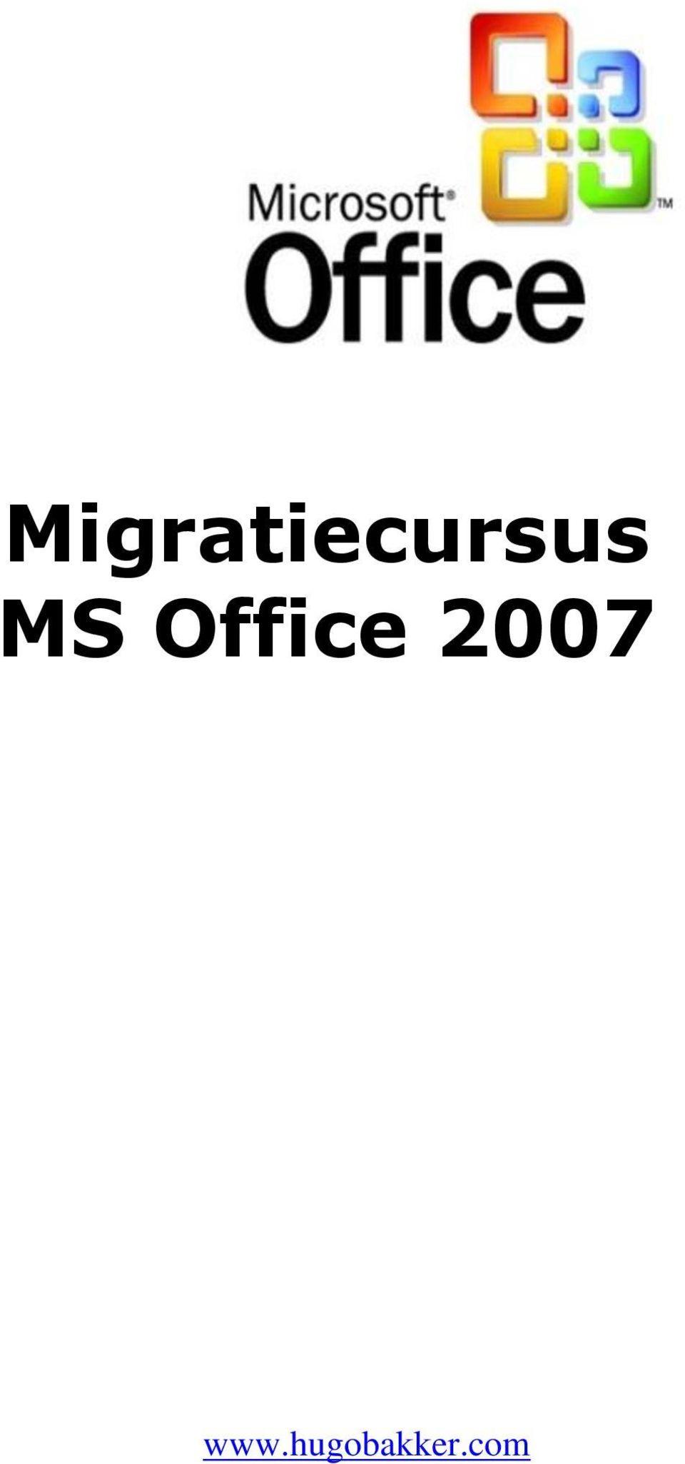 Migratiecursus MS Office PDF