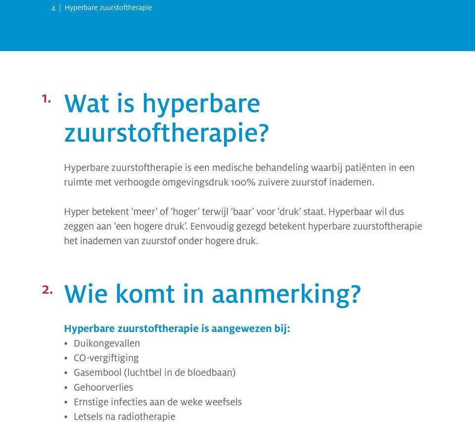 Hyperbare zuurstoftherapie  PDF