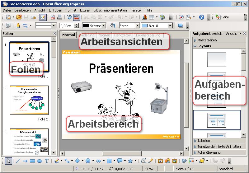 Prsentationen mit OpenOffice Impress 1 erstellen  PDF