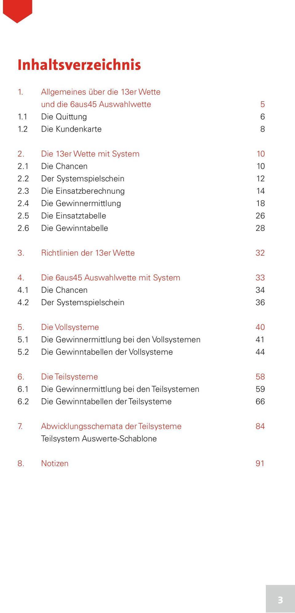 medium resolution of die 6aus45 auswahlwette mit system 33 4 1 die chancen 34 4 2 der systemspielschein 36 5