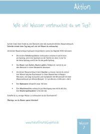 Wasser. Erlebnisbogen. Umweltdetektive - PDF