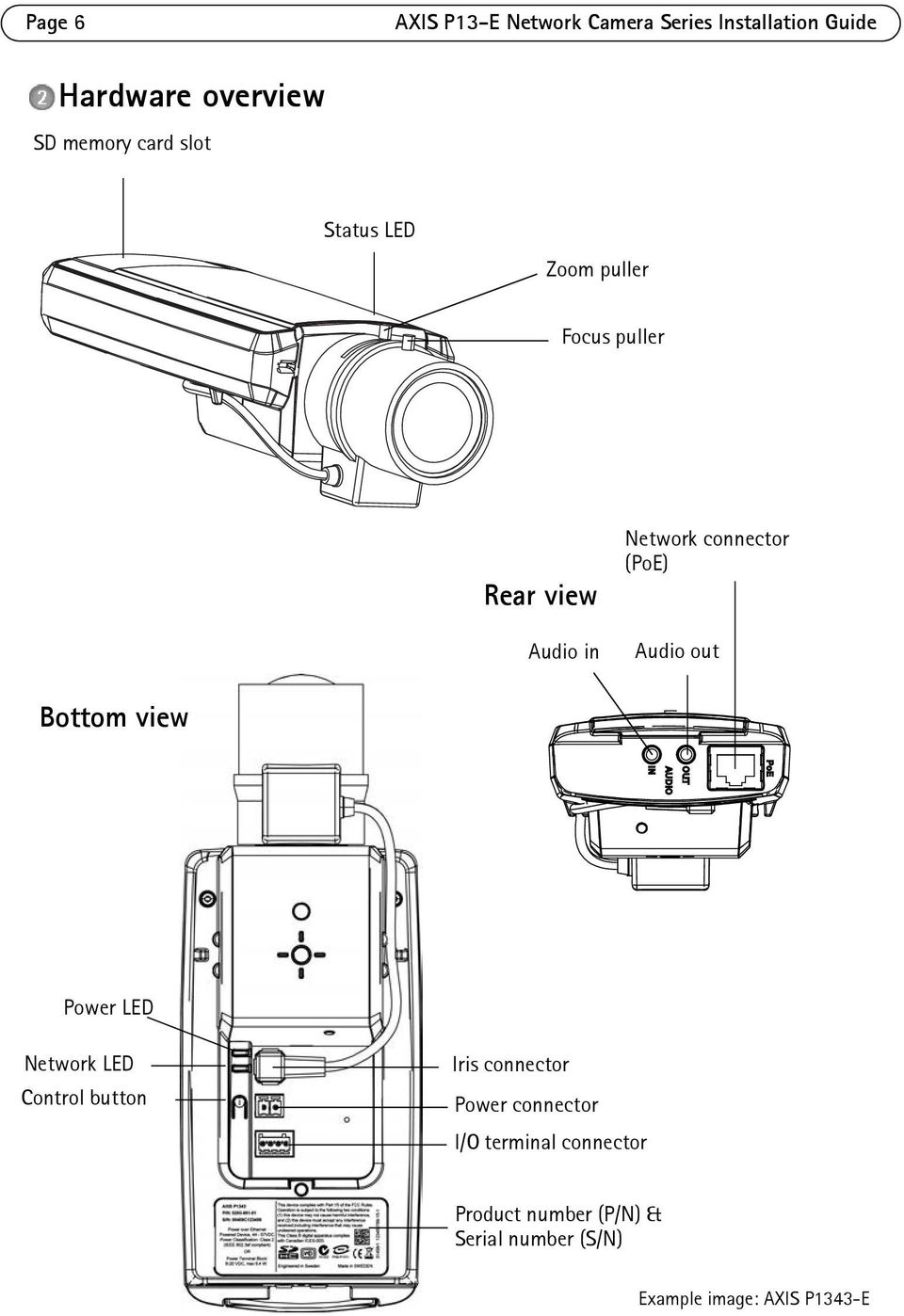 INSTALLATION GUIDE. AXIS P13-E Network Camera Series. AXIS