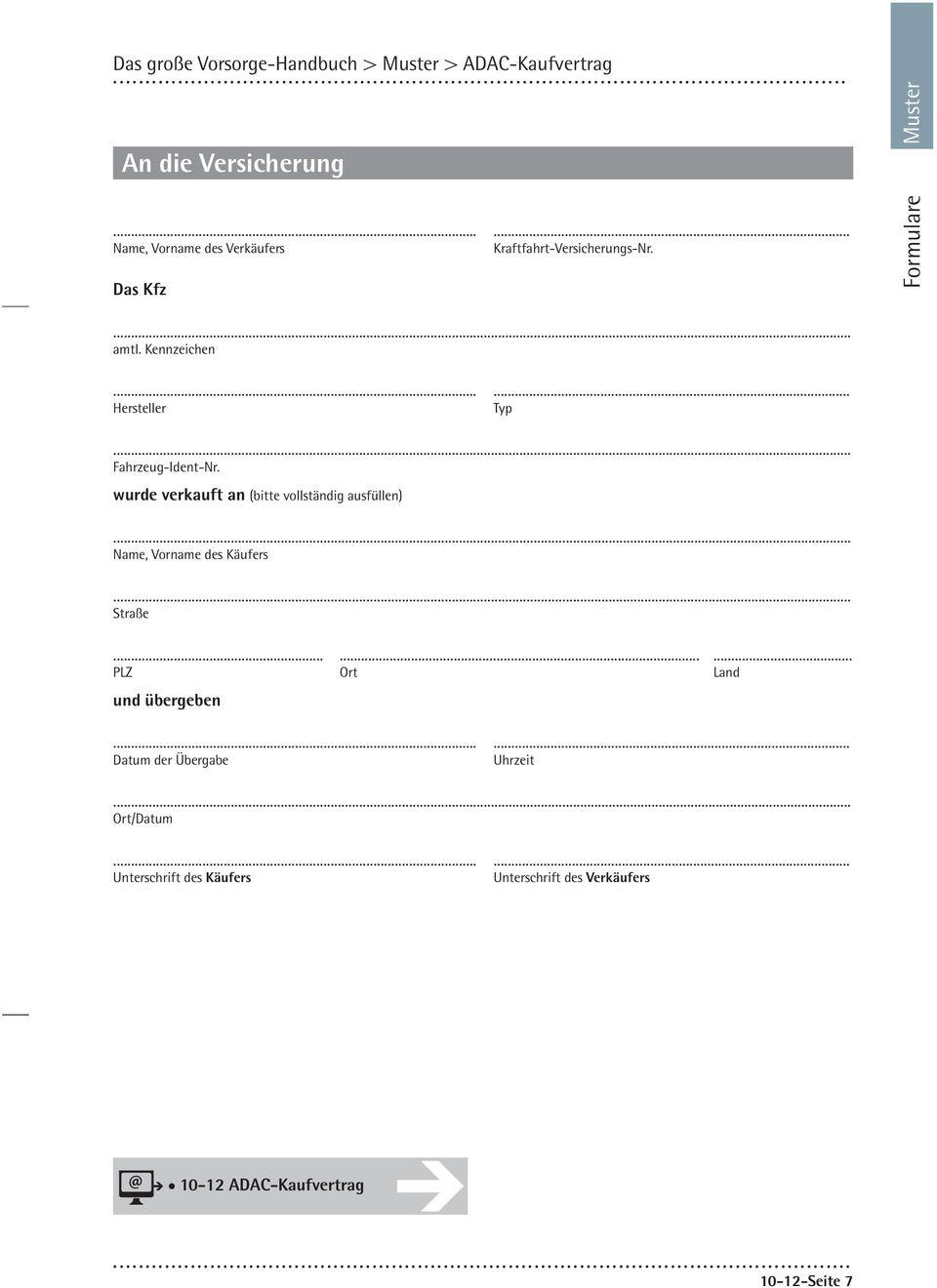 Kaufvertrag Pkw Auto Kaufvertrag Pdf Konzepte Kaufvertrag