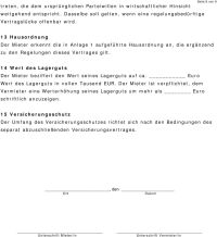 Mietvertrag Lagerraum - PDF