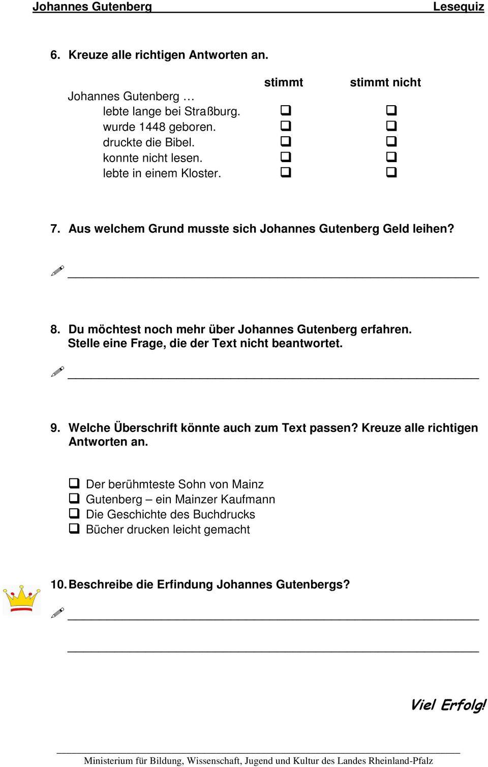 Johannes Gutenberg Buchdruck Erfindung