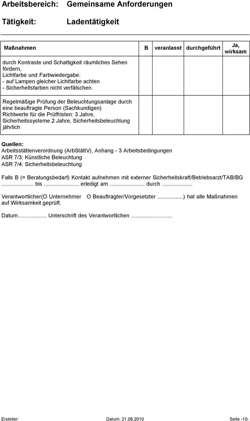 Arbeitsstattenverordnung Temperatur Kuche L08 Mitte