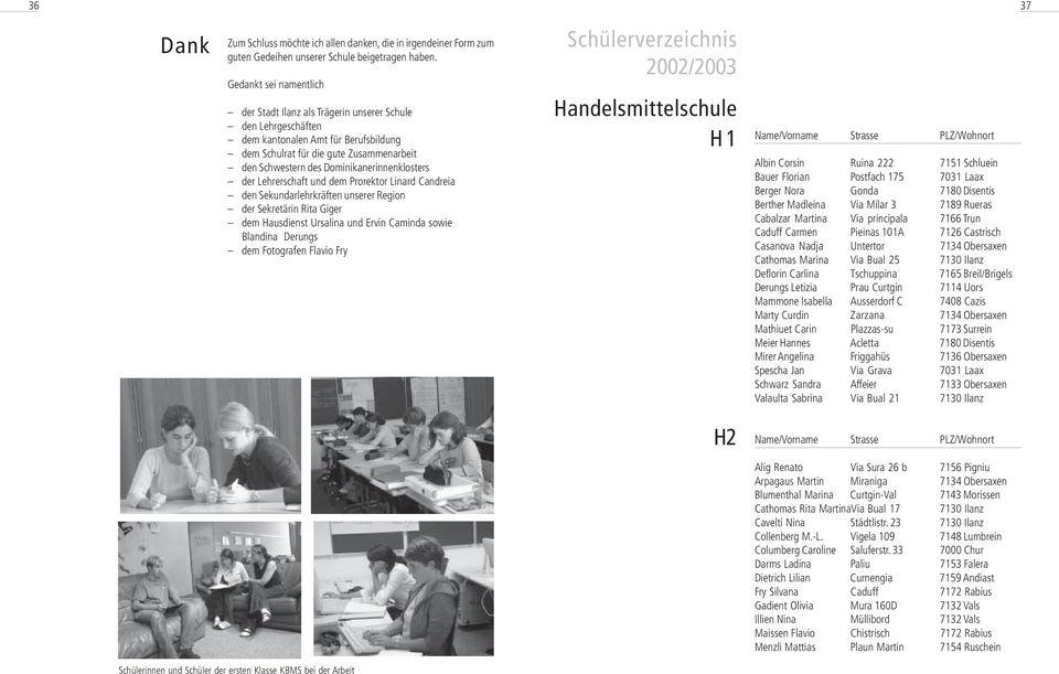 ANNUAL JAHRESBERICHT RAPPOR 2002/ / PDF