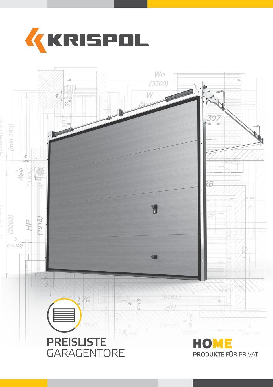 Preisliste Garagentore Produkte Für Privat - Pdf