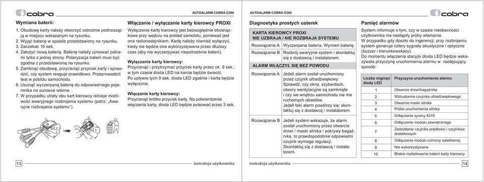 AUTOALARM COBRA INSTRUKCJA PDF