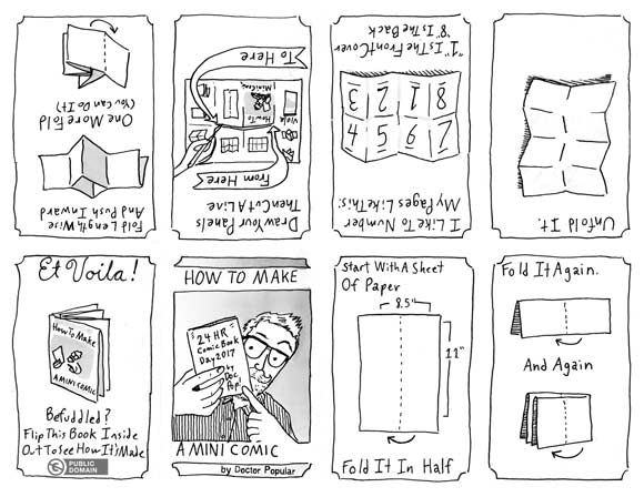 How to make mini-comics, my guide to cutting and folding