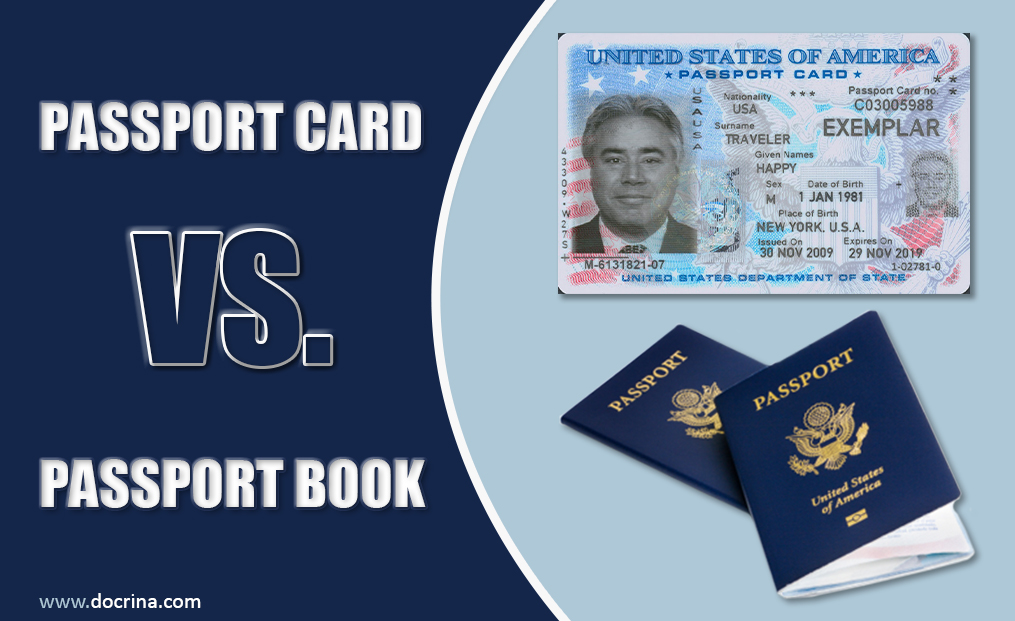 Passport card vs book