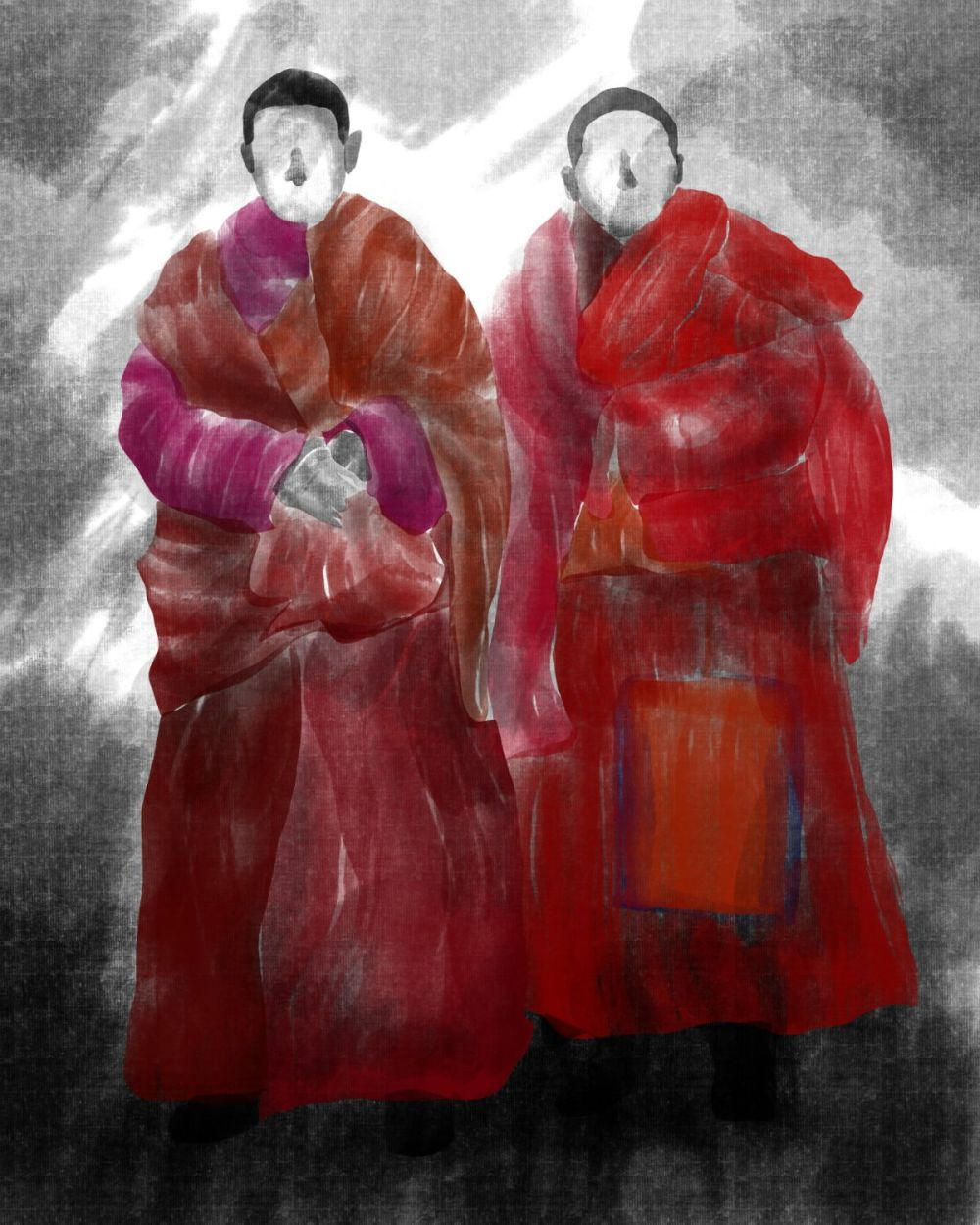 Illustration - Tibetan Buddhists