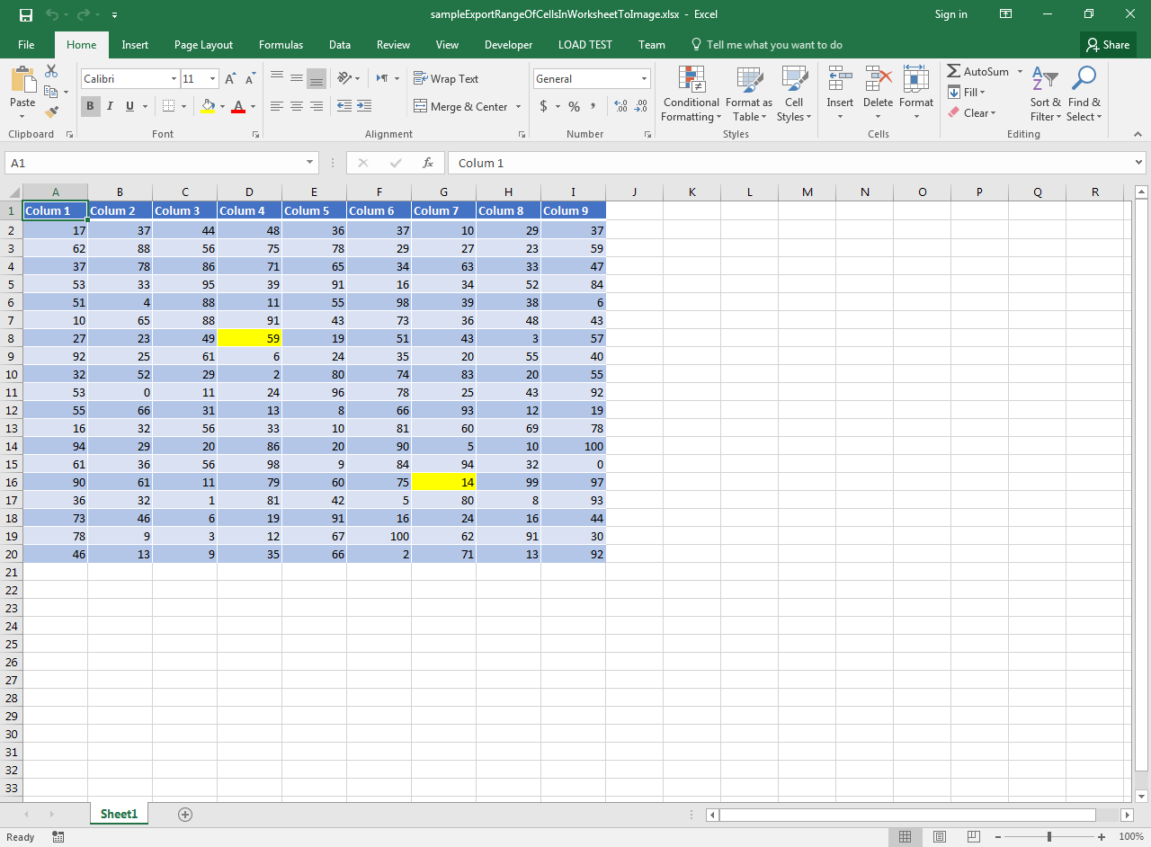 Export Range Of Cells In A Worksheet To Image