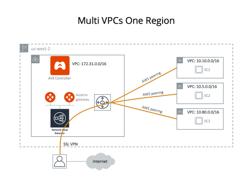 small resolution of assume you have created 4 vpcs in the same region us west 2 in this case you like to use the vpc with cidr 172 31 0 0 16 to host gateways where users