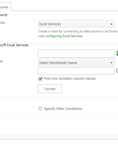 Select  data source  excel services from the dropdown also use as chart plus bamboo solutions rh docsmboosolutions