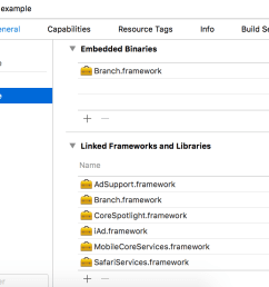 import adsupport safariservices mobilecoreservices corespotlight and iad into linked frameworks [ 1912 x 810 Pixel ]