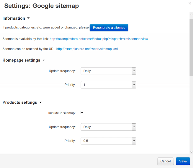 How To: Set up the Google Sitemap Add-on — CS-Cart 4.4.x
