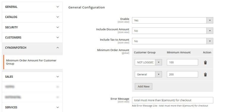 Admin Configuration Setting