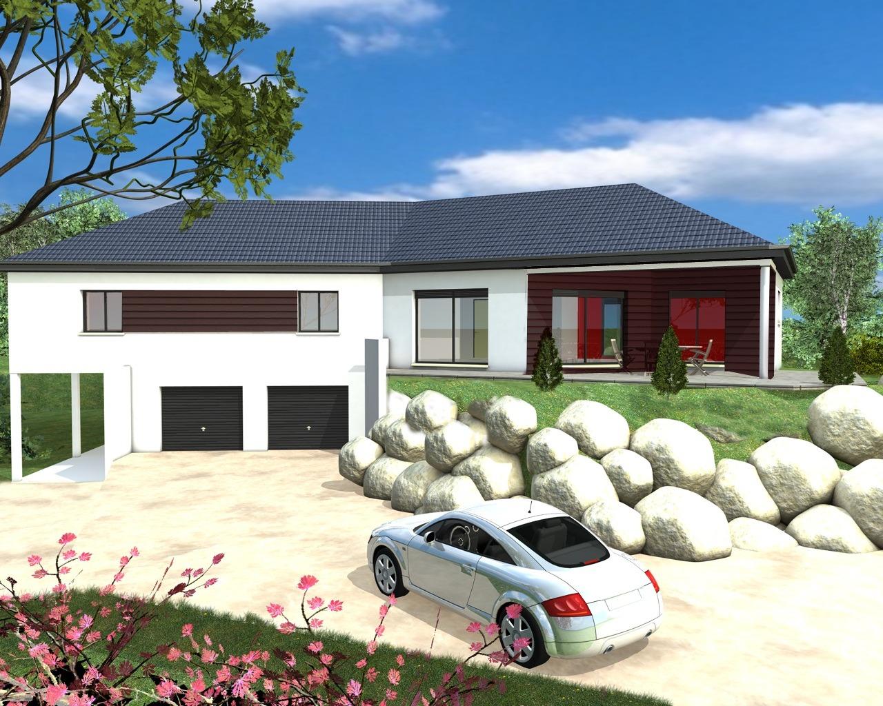 Mod les et plans de maisons sur mesure onstructions demeures plan de maison moderne avec sous
