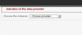 KPI creation - Data provider selector