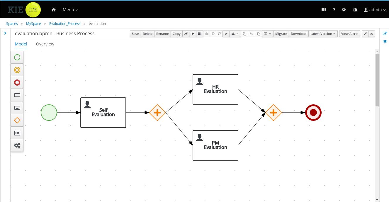 hight resolution of web based designer for creating bpmn2 processes