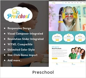 Preschool - Nurseries Kindergarten WordPress Theme