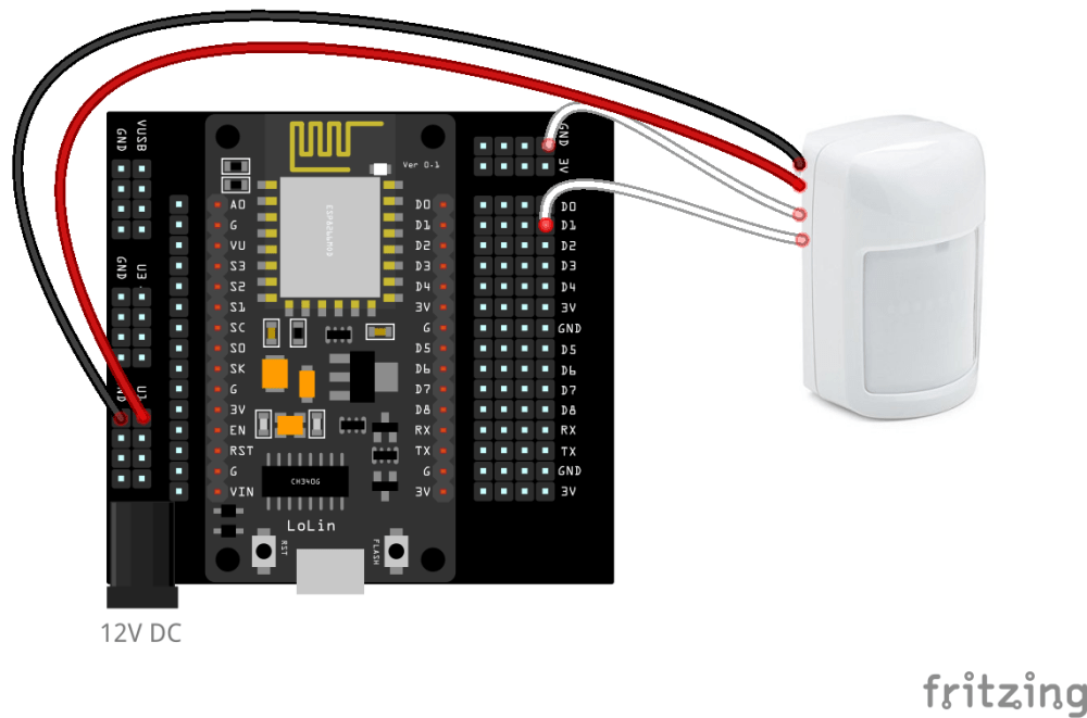 medium resolution of if your motion sensors need power you can draw power from the konnected device base as long as you are powering the device with the correct voltage