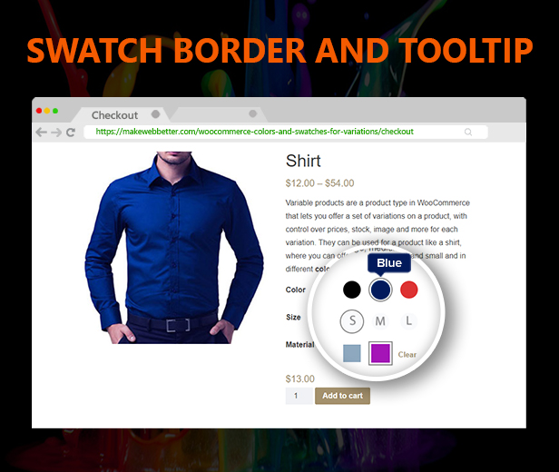 WooCommerce Colors and Swatches for Variations - 5