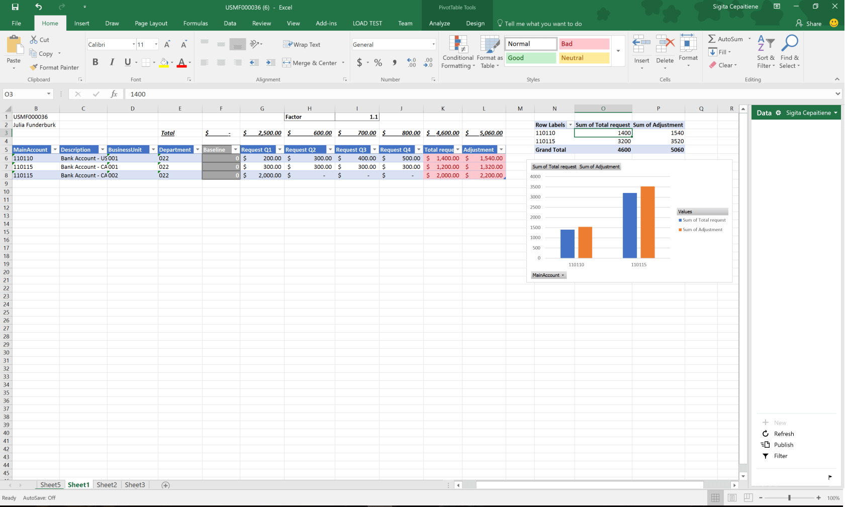 Ablony Planovani Rozpo Tu Pro Excel