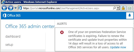 Certificate Renewal For Office 365 And Azure AD Users Microsoft Docs